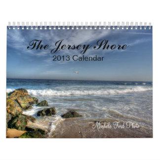 Fotografía de la playa de la orilla de New Jersey  Calendario De Pared
