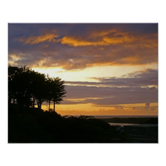 Fotografía de la puesta del sol de Oregon Posters