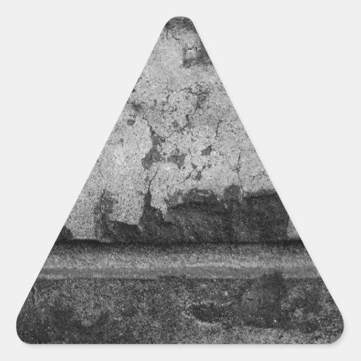 Fotografía de la textura del ladrillo del Grunge Pegatina Triangular