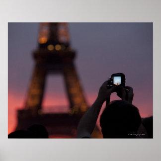 Fotografía de la torre Eiffel con un smartphone Impresiones