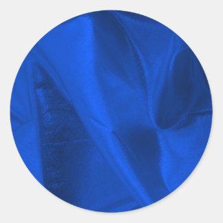 Fotografía de Lame azul metálico Pegatina Redonda
