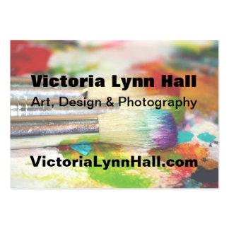 Fotografía de las herramientas del artista tarjetas de visita grandes