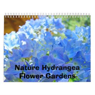 Fotografía de los jardines de flores del Hydrangea Calendario