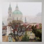 Fotografía de los posters de Praga