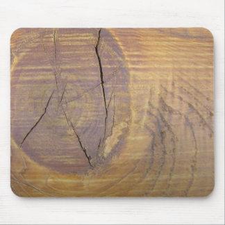 Fotografía de madera del nudo del cedro alfombrillas de ratones