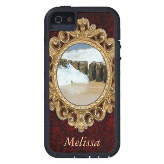 Fotografía de madera del rompeolas y de las ondas iPhone 5 Case-Mate protectores