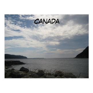 Fotografía de noche de Placentia Canadá Postal