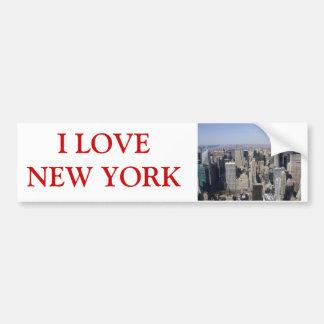 Fotografía de Nueva York Etiqueta De Parachoque