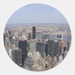 Fotografía de Nueva York Pegatina Redonda