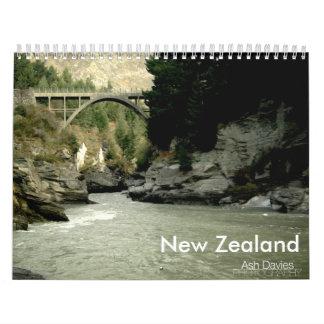 Fotografía de Nueva Zelanda Calendario De Pared