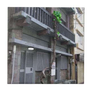 fotografía de Osaka Japón del shinsekai Azulejo Cuadrado Pequeño
