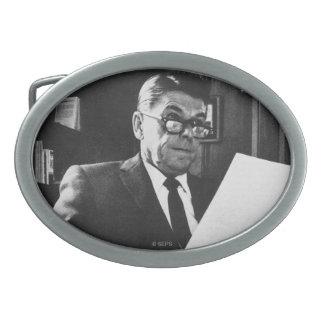 Fotografía de Ronald Reagan Hebilla De Cinturon Oval