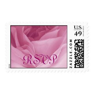 Fotografía de RSVP del sello de color de rosa rosa