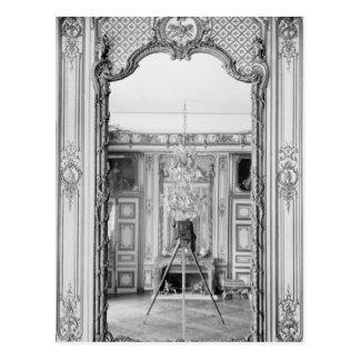 Fotografía de un espejo en el castillo francés de postal