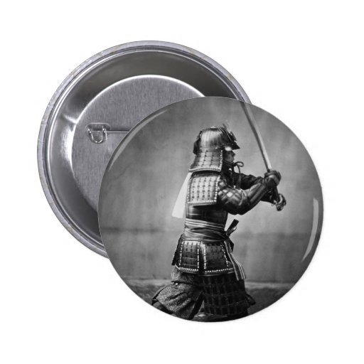 Fotografía de un samurai C. 1860 Pin