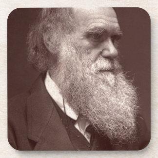 Fotografía de visite de la carta de Charles Darwin Posavasos