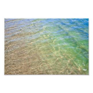 Fotografía del agua del extracto del verde azul fotografía