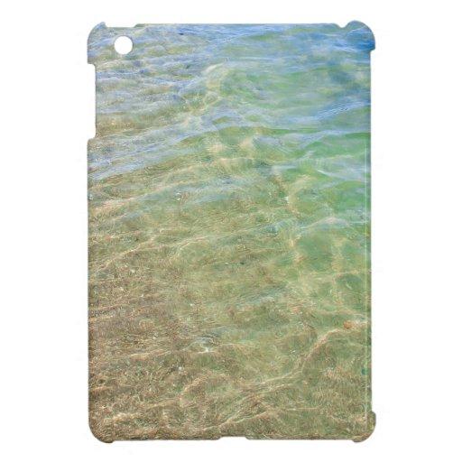 Fotografía del agua del extracto del verde azul iPad mini cobertura