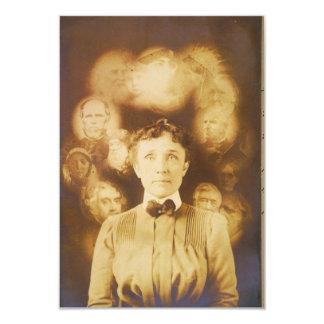 Fotografía del alcohol de los fantasmas que rodean invitación 8,9 x 12,7 cm