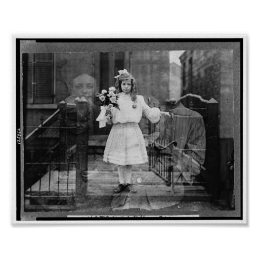 Fotografía del alcohol del chica, C. 1905 Póster