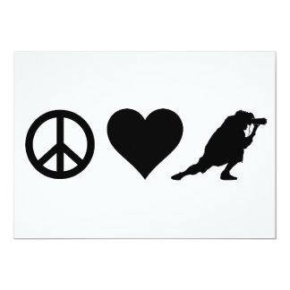 """Fotografía del amor de la paz invitación 5"""" x 7"""""""