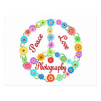 Fotografía del amor de la paz postales