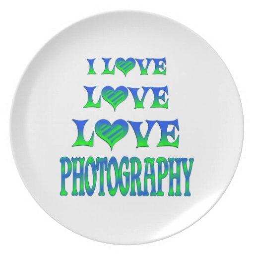Fotografía del amor del amor plato para fiesta