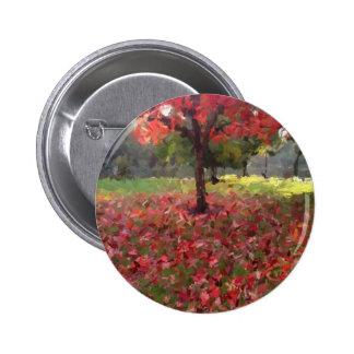 Fotografía del árbol de arce rojo pin redondo de 2 pulgadas