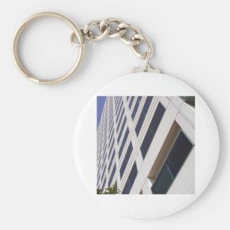 Fotografía del arte del rascacielos del negocio llavero redondo tipo pin