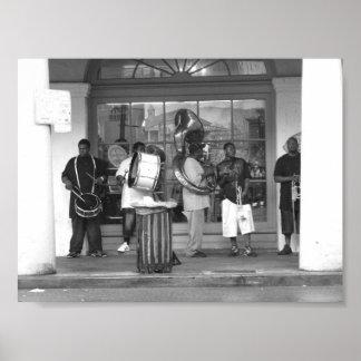 Fotografía del barrio francés de la banda de jazz posters