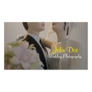 Fotografía del boda de novia y del novio tarjetas de visita