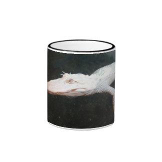 Fotografía del color del cocodrilo del albino de l taza de café