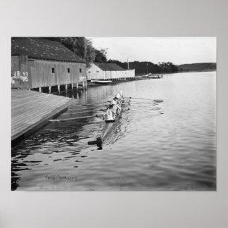 Fotografía del equipo del equipo del Rowing de la Impresiones