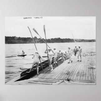 Fotografía del equipo del equipo del Rowing de la  Póster