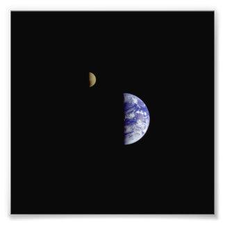 Fotografía del espacio de Galileo de la luna de la Impresiones Fotográficas