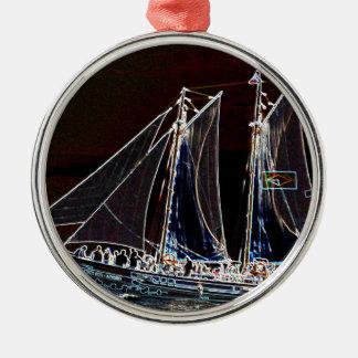 Fotografía del extracto del barco de navegación adornos de navidad