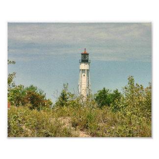 Fotografía del faro de la bahía del esturión fotografía