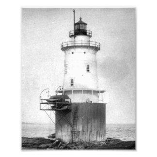Fotografía del faro de la roca de la ballena fotografia