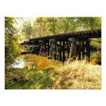 Fotografía del ferrocarril del otoño arte fotográfico