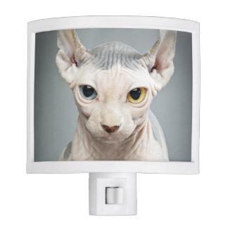Fotografía del gato de la esfinge del duende luces de noche