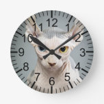 Fotografía del gato de la esfinge del duende relojes