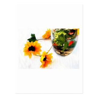 Fotografía del girasol de la pieza central del bod tarjeta postal