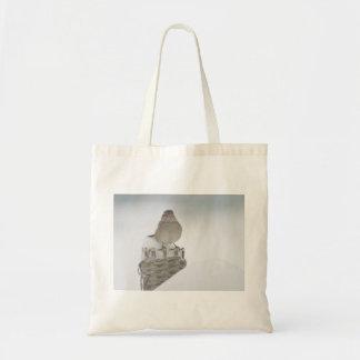 Fotografía del gorrión bolsa