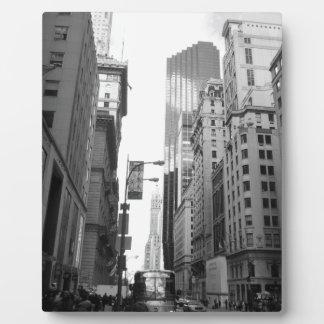 Fotografía del Grayscale de New York City Placas Con Foto