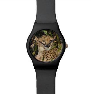 Fotografía del guepardo relojes de pulsera
