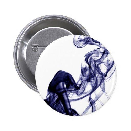 Fotografía del humo - botón azul pins