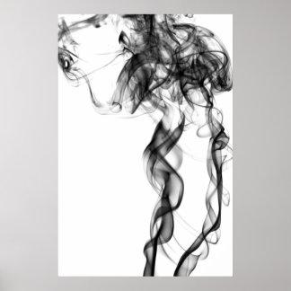 Fotografía del humo - negro poster