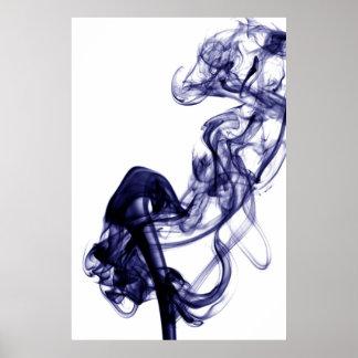 Fotografía del humo - poster azul