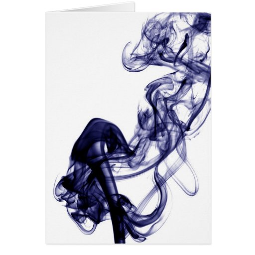 Fotografía del humo - tarjeta azul