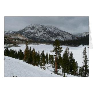 Fotografía del invierno del lago I California Tarjeta De Felicitación